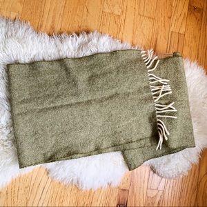 Altea Green Cashmere Scarf Wrap